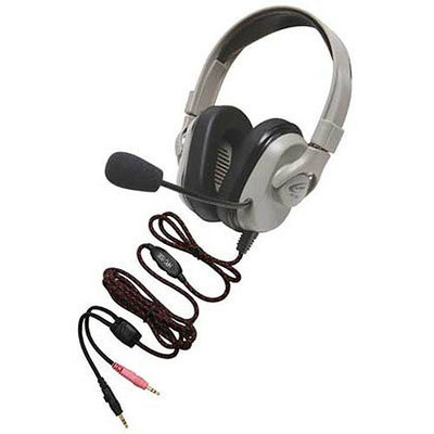 Ergoguys Califone Titanium Headset with Guaranteed for Life Cord - Stereo - Mini-phone - Wired - 50 Ohm - 20 Hz - 20 kHz - Over-the-head - Binaural - Ear-cup - 6 ft Cable - Noise Reduction Microphone