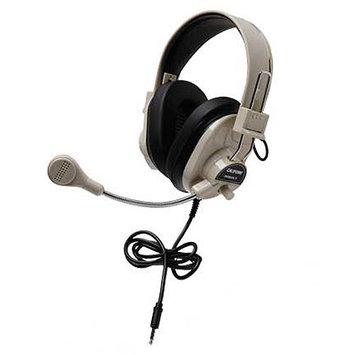 Califone 3066Avt Deluxe Stereo Headset Mic 3.5mm 3Ft Via Ergoguys