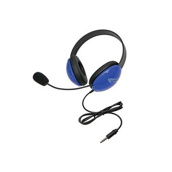 Ergoguys Califone Listening First Stereo Headset with To Go Plug - Stereo - Blue - Mini-phone - Wired - 32 Ohm - 20 Hz - 20 kHz - Nickel Plated - Over-the-head - Binaural - Circumaural - 5.50 ft Cable - Electret Microphone