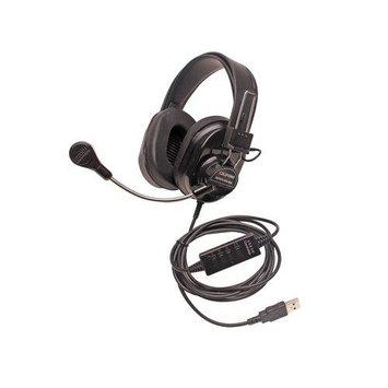 Califone International, Inc. Califone Deluxe Multimedia Stereo Headsets w/Mic, USB Via Ergoguys