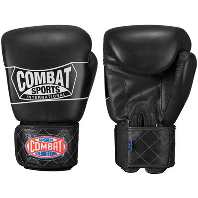 Combat Sports Thai-Style Training Gloves (Black, 16-Ounce)