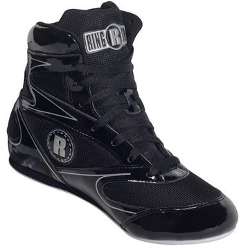 Ringside 3/4 Top Boxing Shoe (Black, 9)