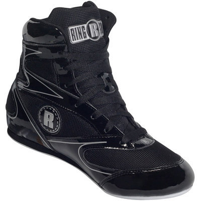 Ringside 3/4 Top Boxing Shoe (Black, 9)