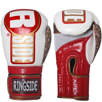 Ringside Boxing Apex Fitness Bag Gloves - L/XL - Pink/Gray