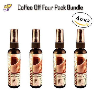 Urine Off MR1054 4oz Coffee Off Spray Stain Remover 4 Pack Bundle