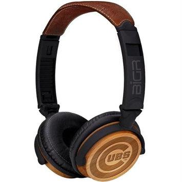 BiGR Audio XLMLBCC3 Circumaural Chicago Cubs Natural Wood Finish