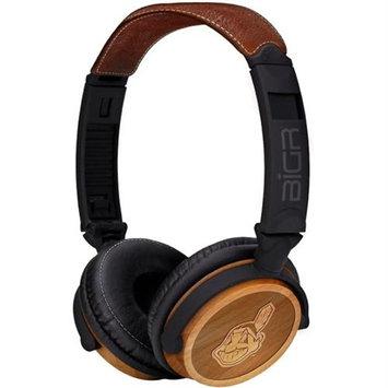 Bigr Audio Big R Audio Headphones XLMLBCI3 Cleveland Indians Mlb Licensed Accs Monitor Style Headphones