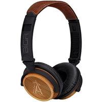 BiGR Audio XLMLBCA3 Circumaural Los Angeles Angels Natural Wood Finish Headphone