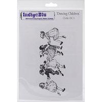 IndigoBlu Cling Mounted Stamp 5inX4in-Dancing Children