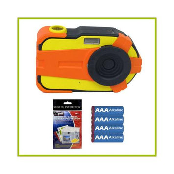 Sakar Nerf 2.1MP Digital Camera with 1.5-inch LCD + AAA Batteries + Screen Protectors