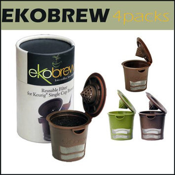 Ekobrew 4 Packs Refillable K Cup