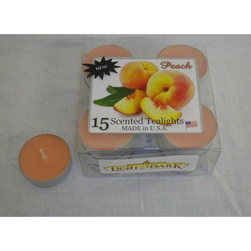 Light Technology Pub Light In the Dark Peach Tealight Candles (Set of 15)