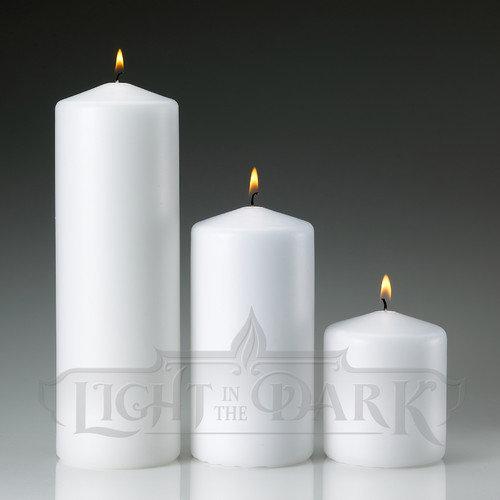 Light Technology Pub Light In the Dark Pillar Candles (Set of 3)