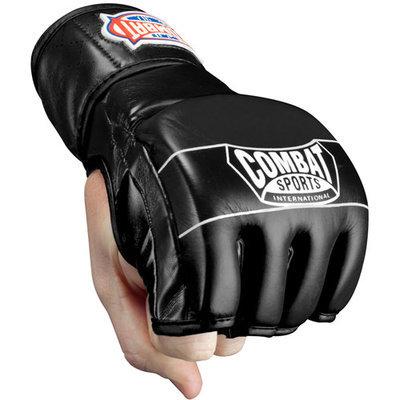 Combat Sports Traditional MMA Fight Gloves (White-Black, Regular)