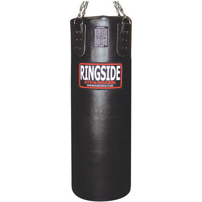 NEW Ringside 100 Pound Leather Heavy Bag Filled Red
