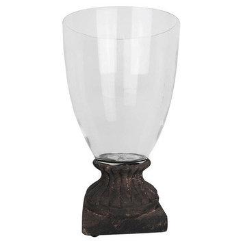 Elegant Music Antique Glass Candle Jar