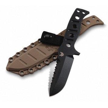 BENCHMADE 375BKSN Fixed Blade Knife, Fine,41/4 In, Black