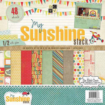 Diecuts With A View My Sunshine Paper Stack, 12
