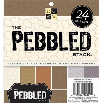 Diecuts With A View MS019058 Specialty Stack 6X6 24/Pkg-Pebbled Embossed
