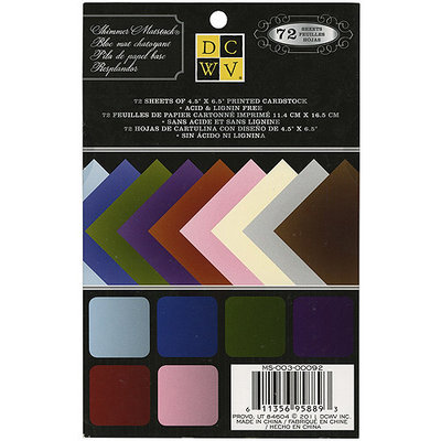 Diecuts With A View MS003092 Mat Stack 4.5 in. X6.5 in. 72-Pkg-Shimmer Solids