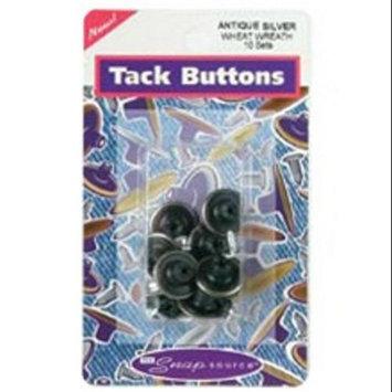 Snap Source 447704 Tack Buttons Size 27 16mm 10-Pkg-Antique Copper