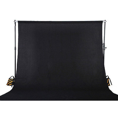 Square Perfect 10 x 13 Ft. Black Muslin Photo Backdrop Photography Background