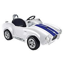 Kid Motorz 6V Shelby Cobra One Seater in White