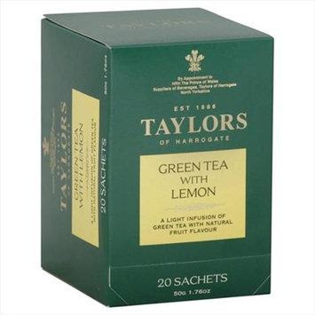 Taylors Of Harrogate 20 Bag Green Tea With Lemon - Case Of 6