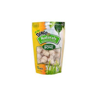 Dingo Naturals Chicken and Rawhide Bones: Mini - 12 Pack