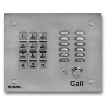 Vikingelectronics Viking SS Handsfree Phone w/ Key Pad K17003EWP