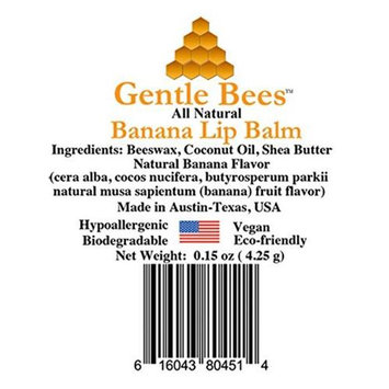 Gentle Bees 616043804514 Banana Lip Balm