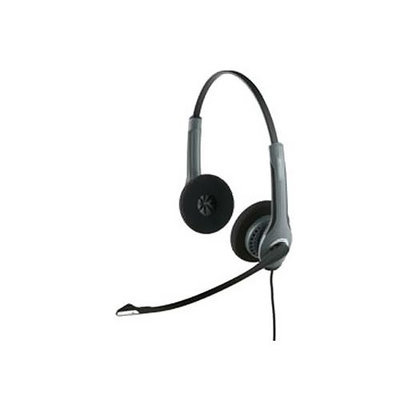 Jabra GN Netcom 2025-NC with 2.5mm Adapter Over the Head Binaural Headset w/ PeakStop & Noise Canceling Mi