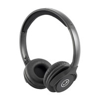 Able Planet Clear Voice TL210- Metallic Black Stereo Headphones
