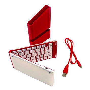 Iwerkz 44652 Universal Foldable Bluetooth Keyboard (Red)