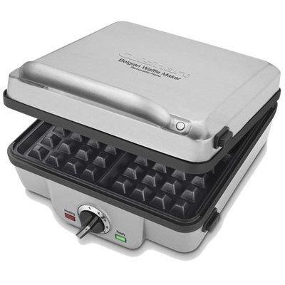 Cuisinart WAF300 4-Slice Belgian Waffle Maker w/ Pancake Plates + Flipper Tongs + Accessory Kit