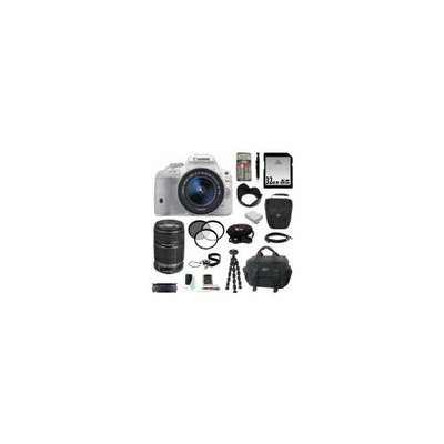 Canon EOS Rebel SL1 with EF-S 18-55mm IS STM Lens (White) and Canon EF-S 55-250mm f/4.0-5.6 IS II Telephoto Zoom Lens pl