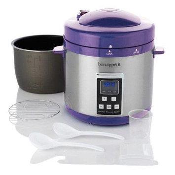 Wolfgang Puck Bon Appetit BAPCR010PUR 7Qt. Programmable Heavy Duty Pressure Cooker in Purple