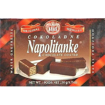 Kras Wafer Napolitanke Choc Co 11.64 OZ (Pack of 12)