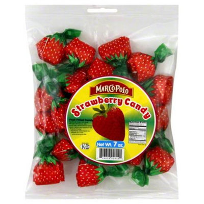 Marco Polo Strawberry Fruit Filled Candy, 7 oz, - Pack of 24