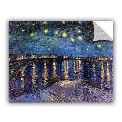 Art Wall Starry Night Over The Rhone by Vincent Van Gogh Art Appeelz Removable Wall Art Graphic Size: 14