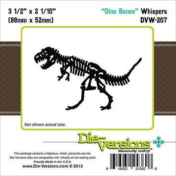 Die-Versions Whispers Die-Dino Bones, 3.5X2.062
