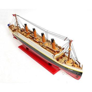 Old Modern Handicrafts Painted Large Titanic Model Ship