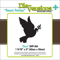Die-Versions DVP094 Die-Versions Sweet Petites Die-Dove 1.687X2