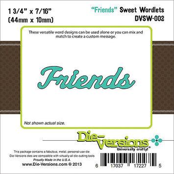 Die-Versions DVSW002 Die-Versions Sweet Wordlets Die-Friends 1.75 in. X.4375 in.
