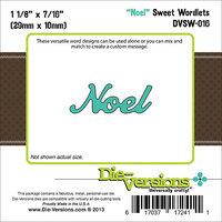 Die-Versions DVSW016 Die-Versions Sweet Wordlets Die-Noel 1.125 in. X.4375 in.