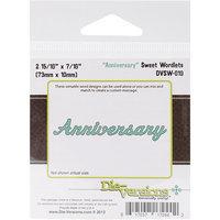 Die-Versions DVSW019 Die-Versions Sweet Wordlets Die-Anniversary 2.937 in. X.4375 in.