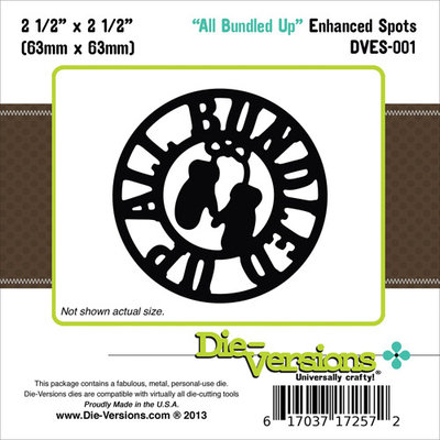 Die-Versions DVES001 Die-Versions Enhanced Spots Die-All Bundled Up 2.5 in. X2.5 in.