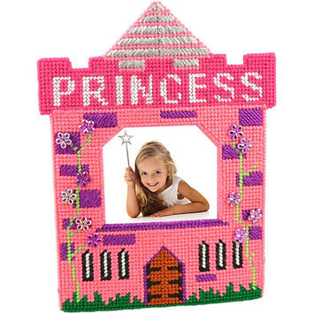 Framous Kits Princess Pink Framous Plastic Canvas Kit-3.1