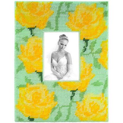 Framous Kits Yellow Rose Framous Plastic Canvas Kit-8.5