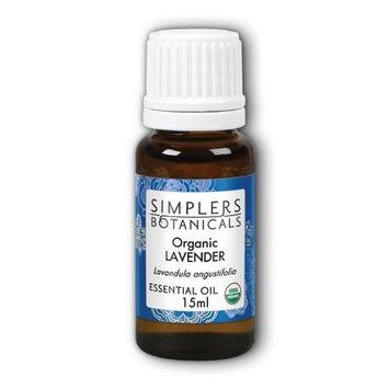 Simplers Botanicals - Organic Essential Oil Lavender - 15 ml.